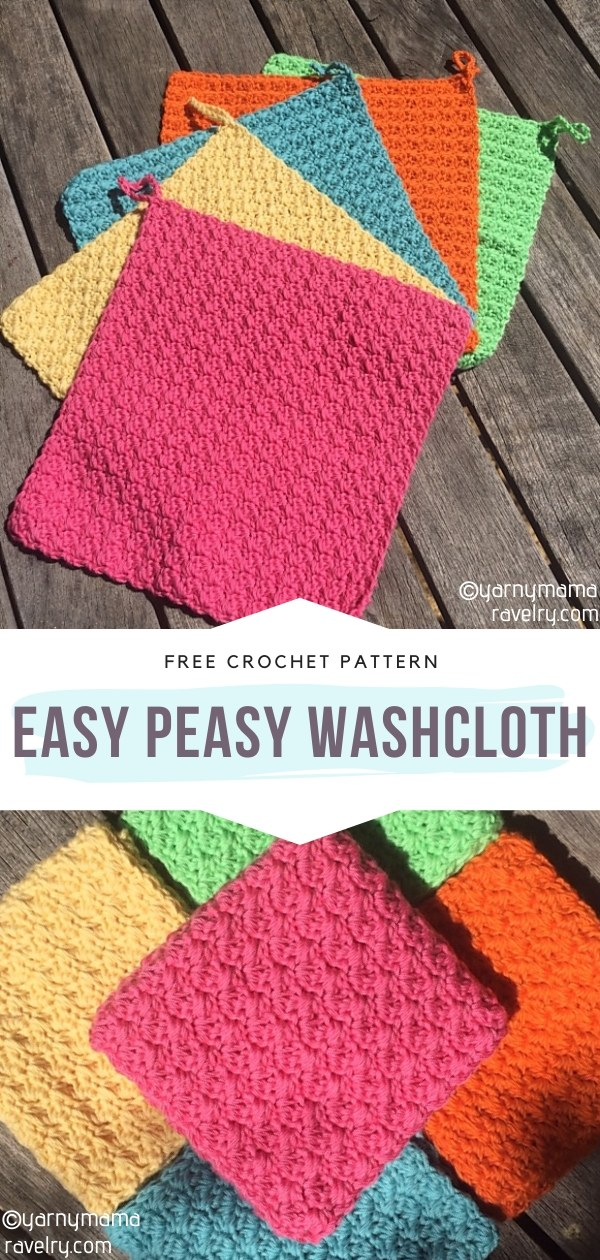 Easy Peasy Crochet Washcloth