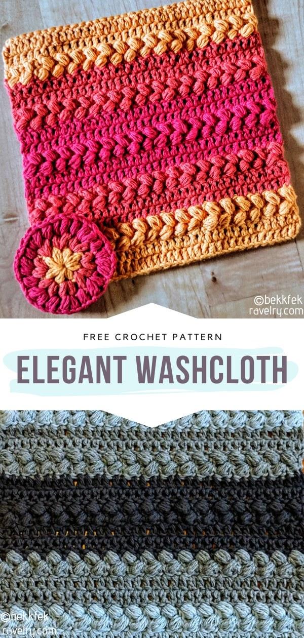 Elegant Crochet Washcloth