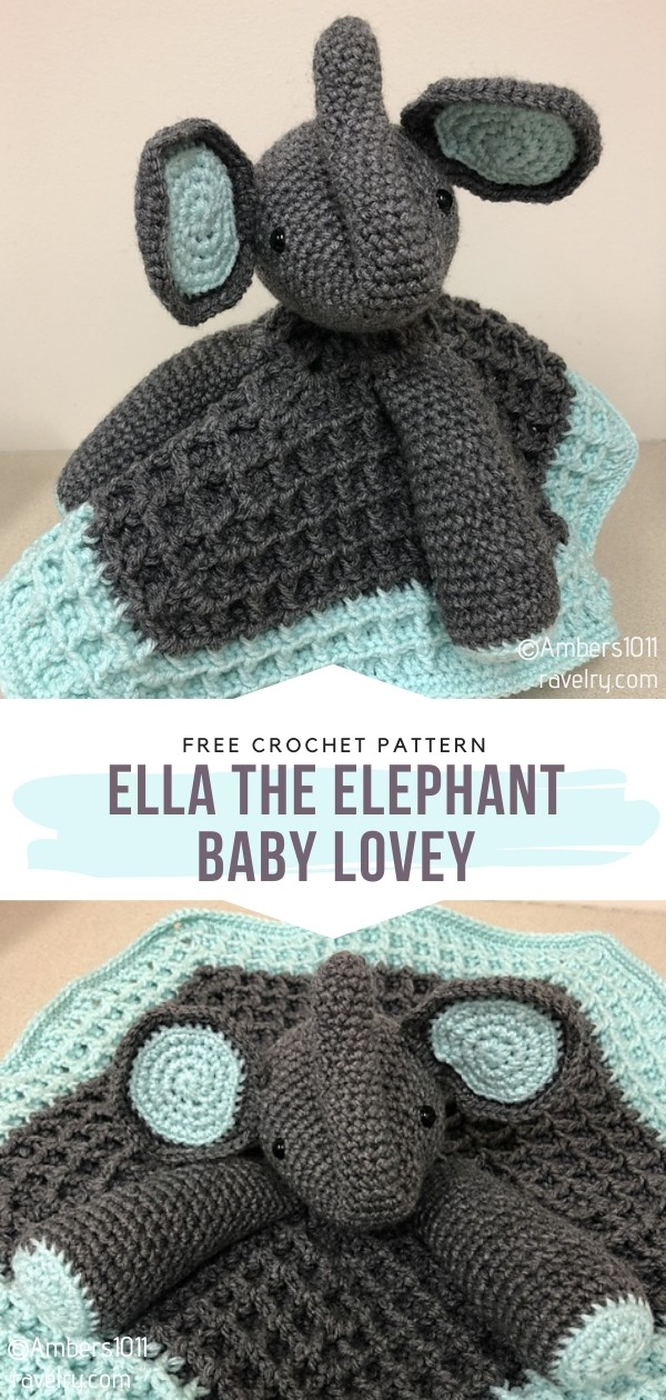 Ella The Elephant Crochet Baby Lovey