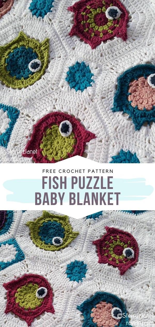 Fish Puzzle Crochet Baby Blanket
