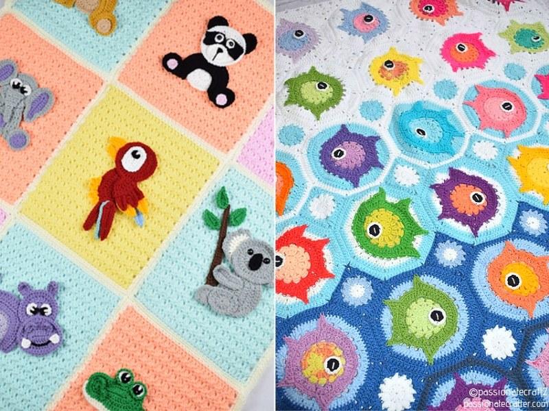 Fun Animal Crochet Baby Blankets