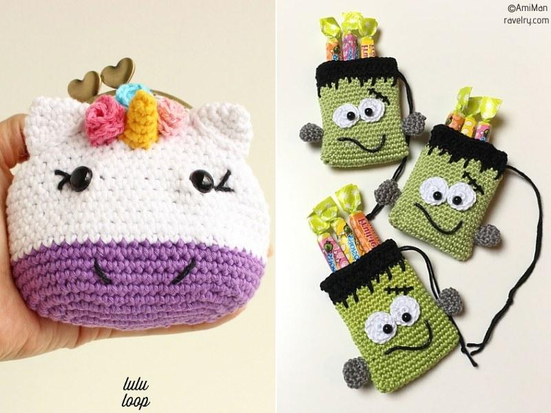 Fun Crochet Pouches for Kids Free Patterns