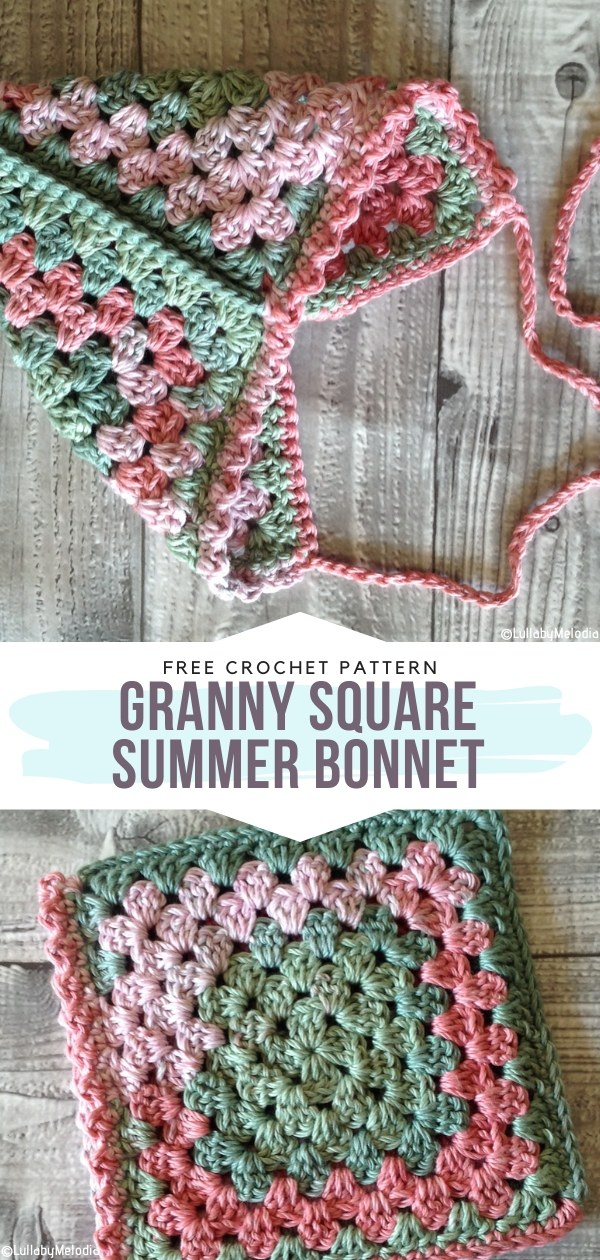 Granny Square Summer Bonnet