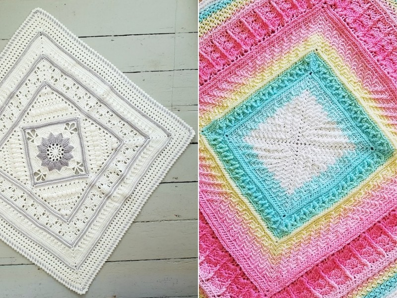 Hottest Square Baby Blankets Free Crochet Patterns