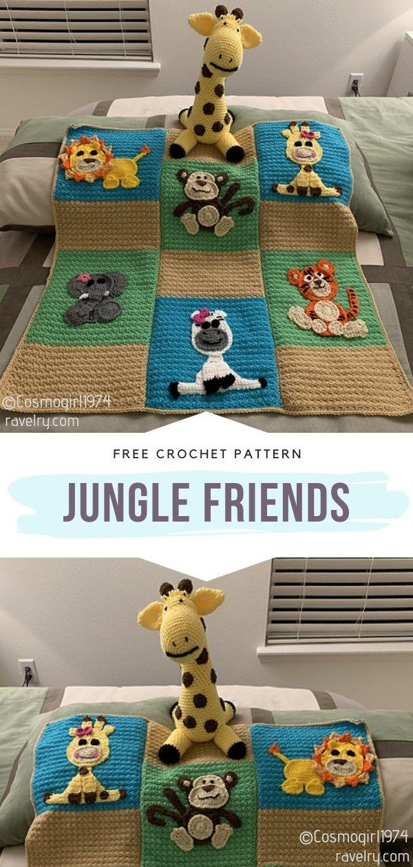 Jungle Friends Crochet Blanket