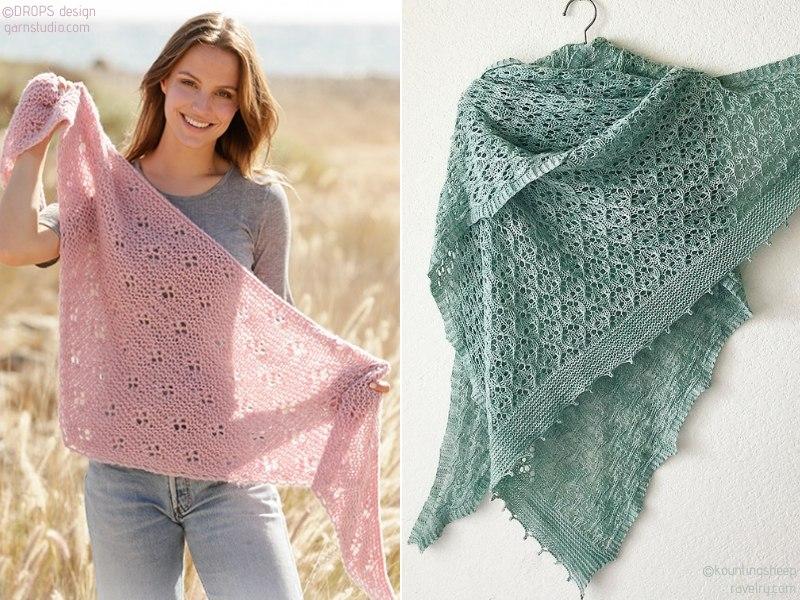 Knit Shawls for Summer
