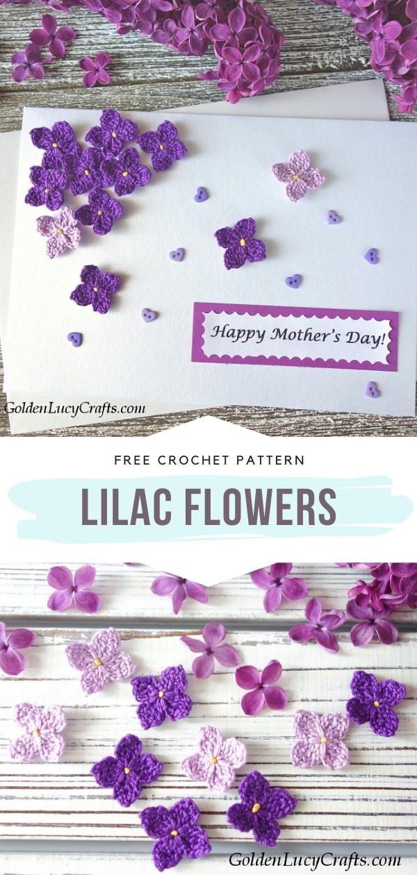 Lilac Crochet Flowers