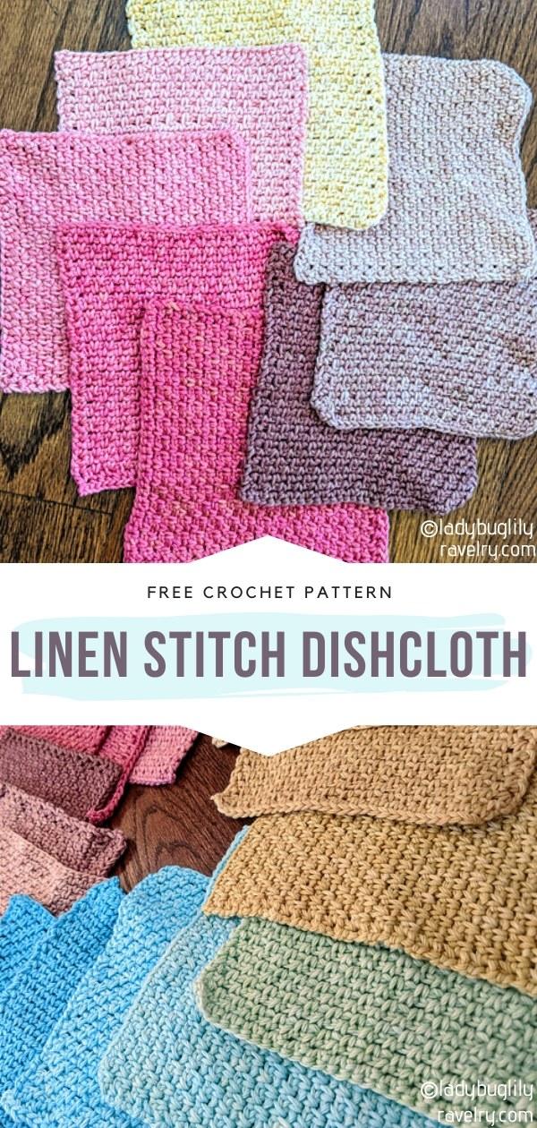 Linen Stitch Crochet Dishcloth