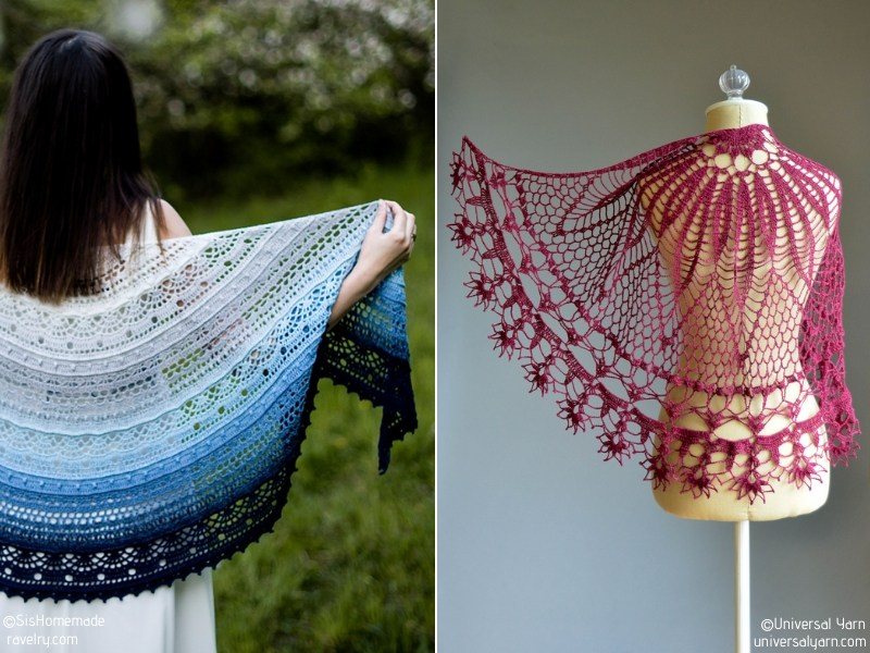 Marvelous Half Moon Shawls Free Crochet Patterns