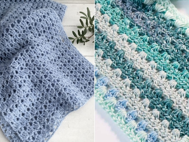 Mesh Crochet Scarves Free Patterns
