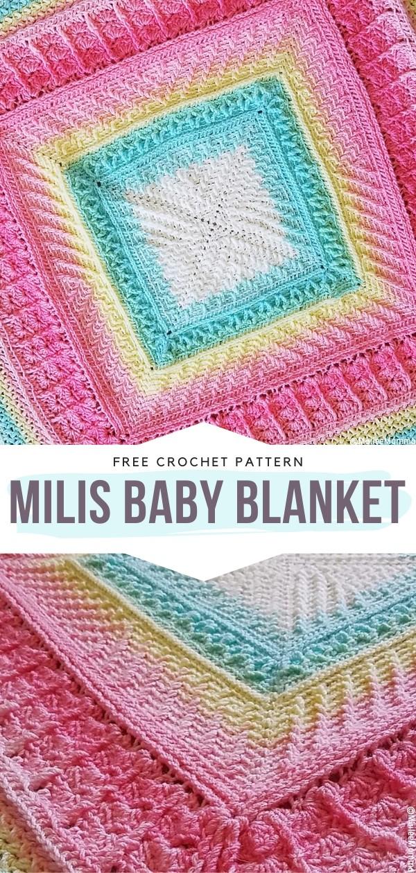 Milis Baby Blanket Free Crochet Patterns