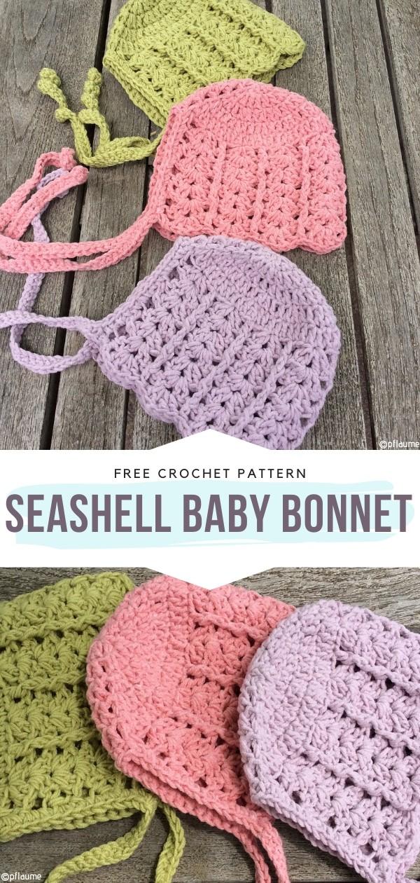 Seashell Baby Bonnet