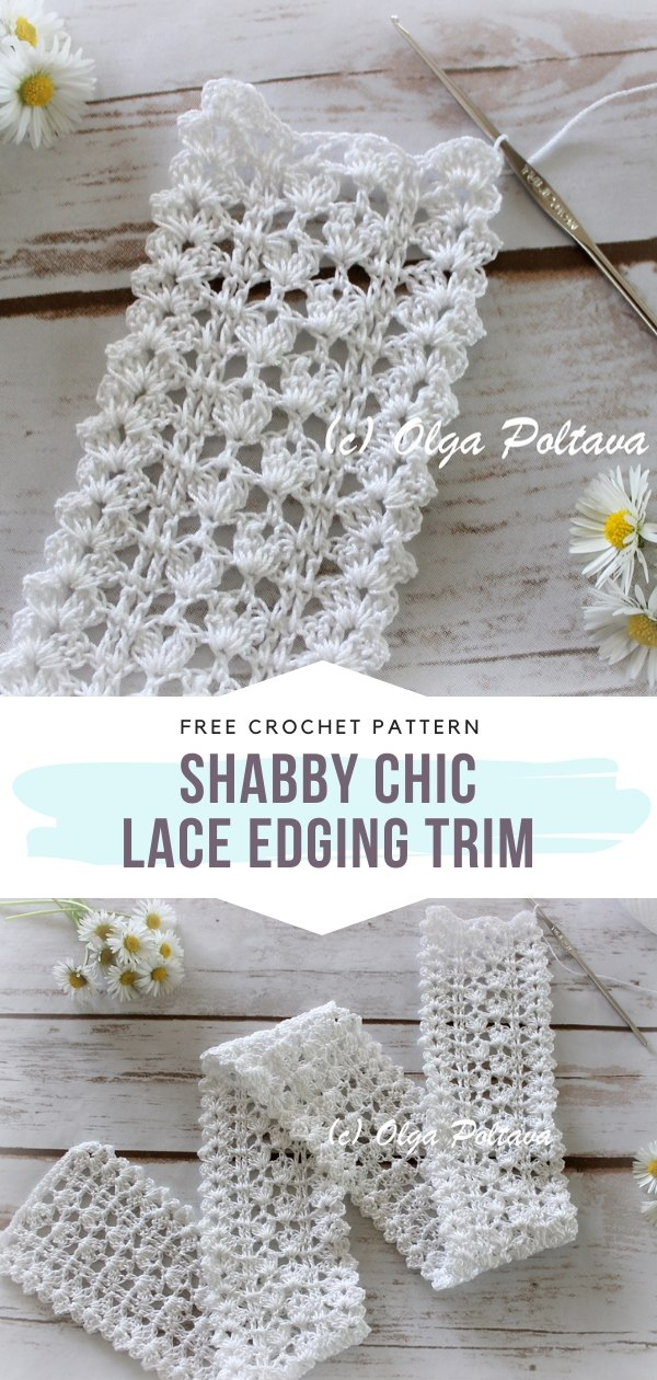 White Lacy Crochet Edging