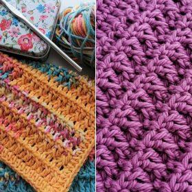 Textured Crochet Washcloths Free Patterns