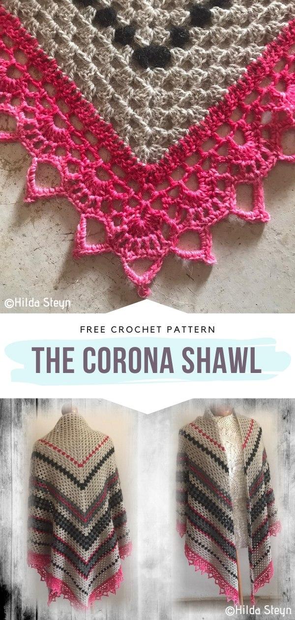 The Corona Shawl Free Crochet Pattern