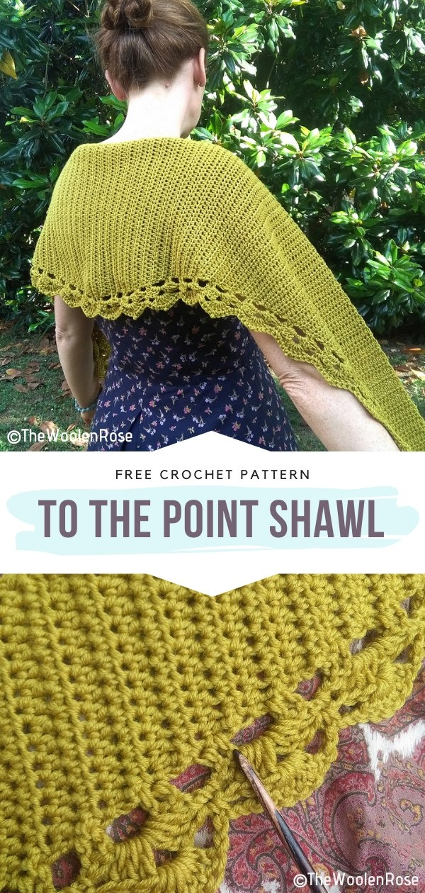 To The Point Shawl Free Crochet Pattern