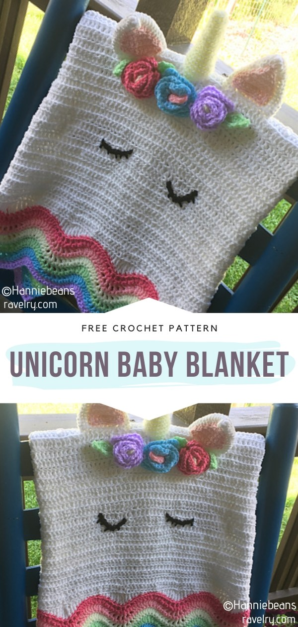 Crochet Unicorn Baby Blanket