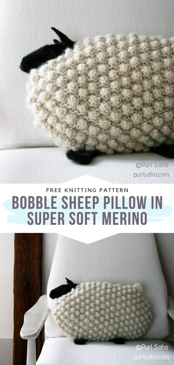 Crochet Sheep Pillow