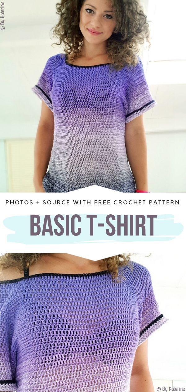 Basic T-shirt Free Crochet Pattern
