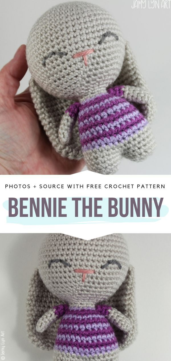 Bennie the Bunny Free Crochet Pattern