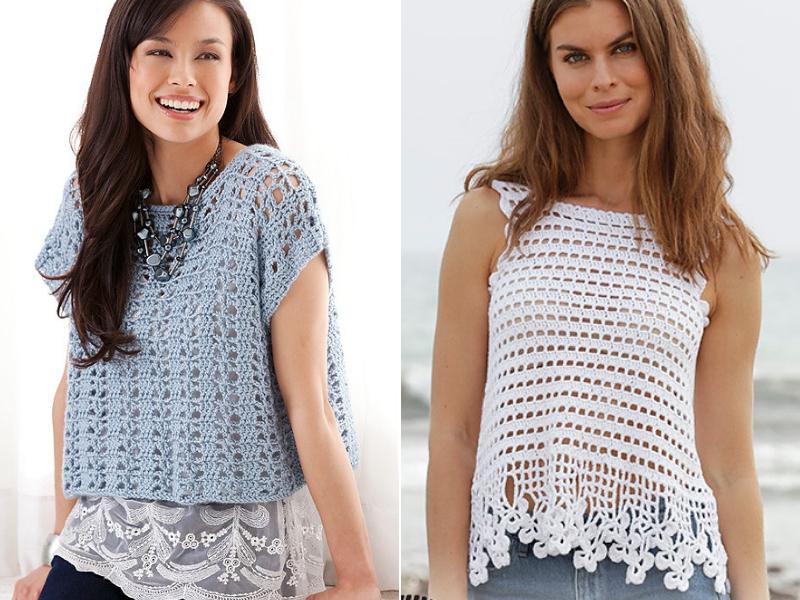 Breezy Summer Tops Free Crochet Patterns