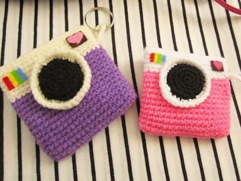 Crochet Camera Purses Free Patterns