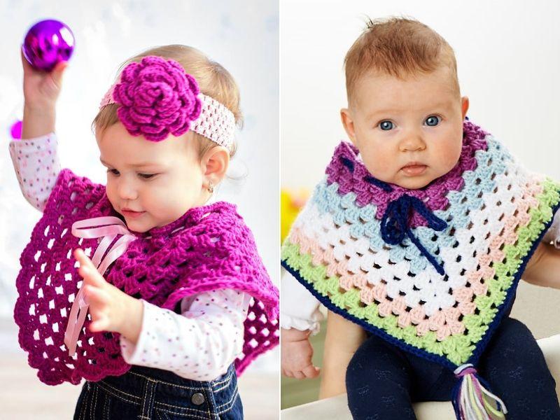 Crochet Baby Ponchos Free Patterns