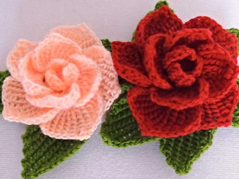 Crochet Flower Applique Free Patterns