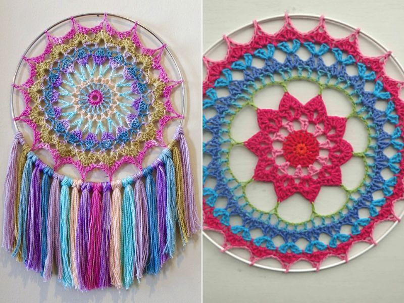 Crochet Mandala Hoops Free Patterns