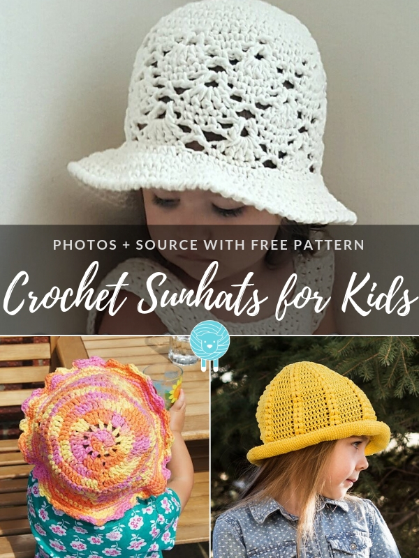 Crochet Sunhats for Kids Free Patterns