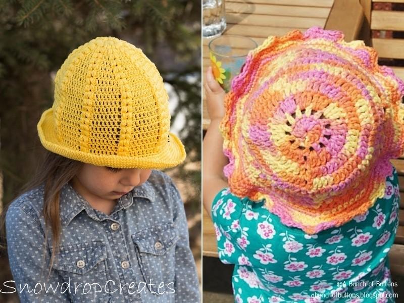 Crochet Sunhats for Kids