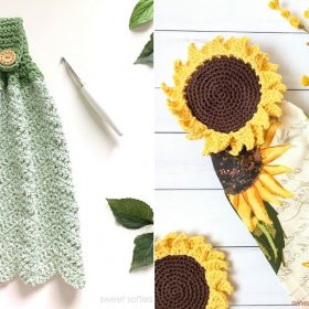 Colorful Kitchen Towels for Summer Free Crochet Patterns