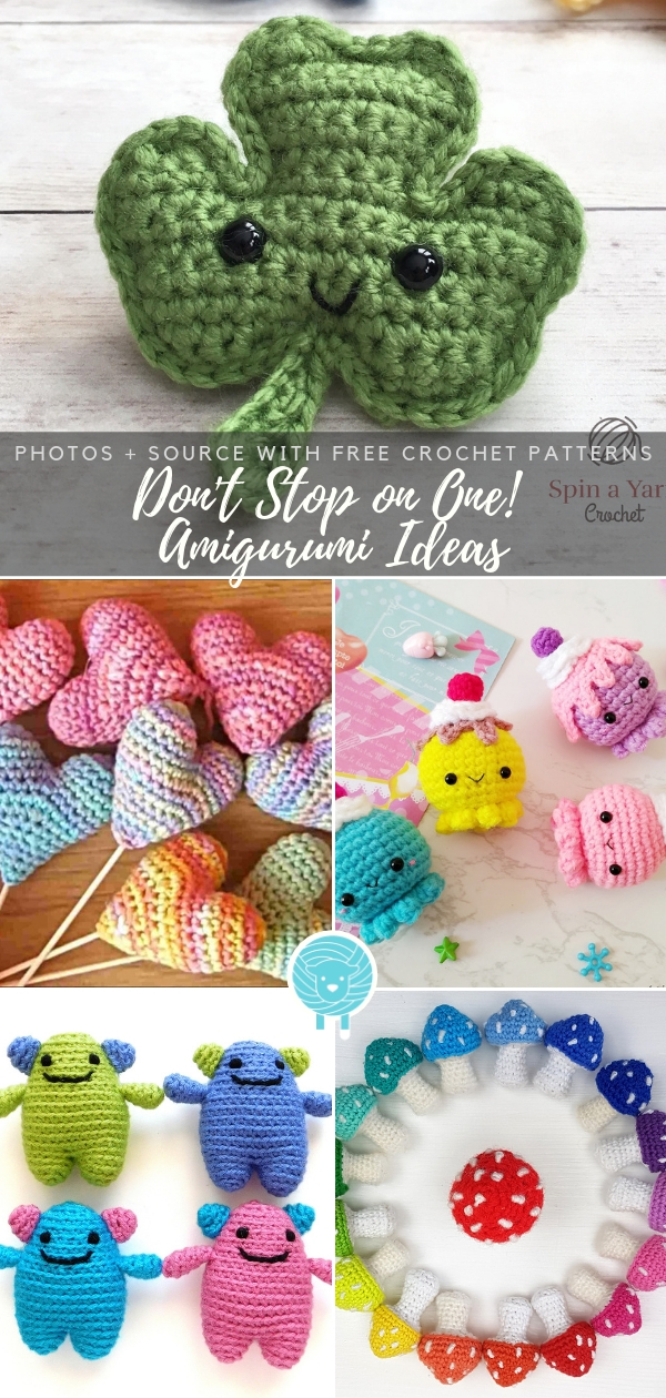 Don't Stop on One! Amigurumi Ideas Free Crochet Patterns