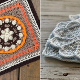 Floral Afghan Squares with Free Crochet Patterns