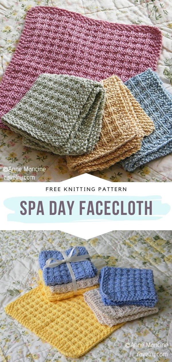 Knitted Facecloth