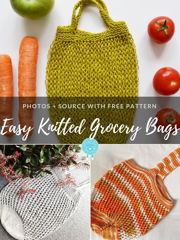 Easy Knitted Grocery Bags Free Patterns