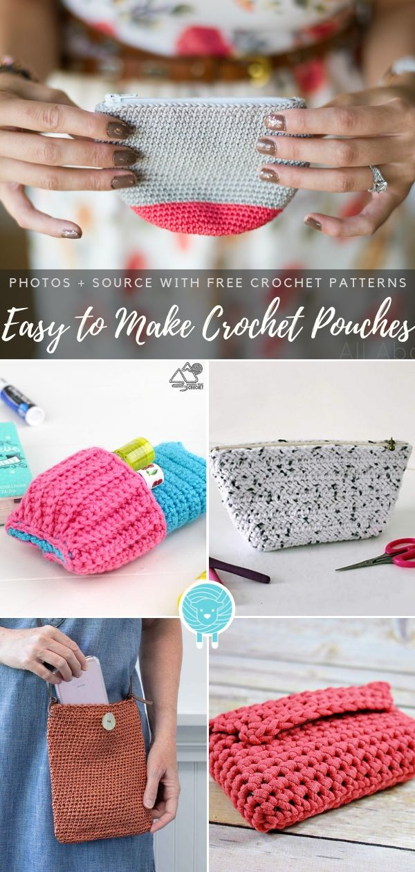 Easy to Make Crochet Pouches