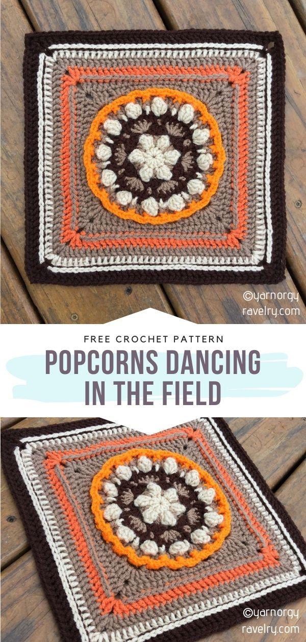 Popcorn Stitch Square