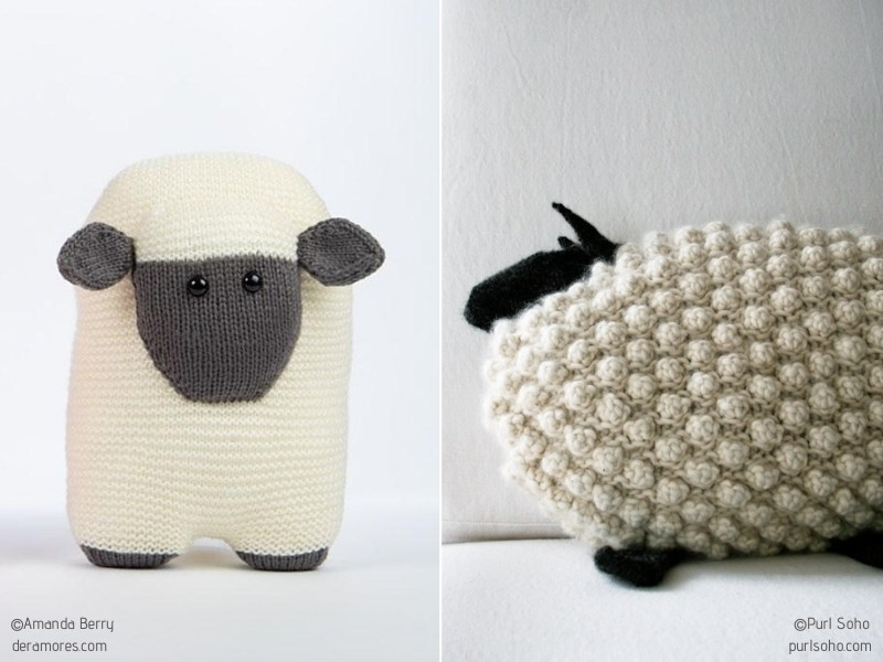 Cuddly and Soft Knitted Pillows with Free Patterns