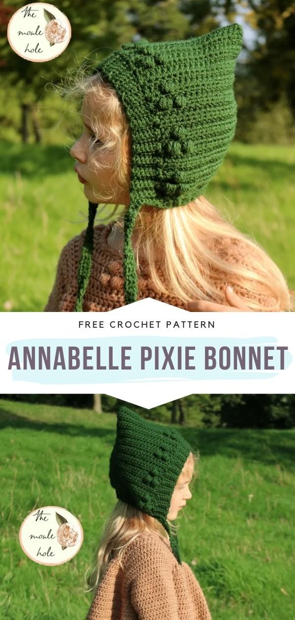 Crochet Pixie Bonnet