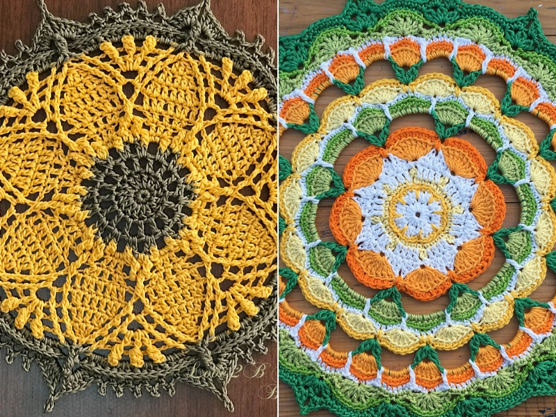 Floral Crochet Mandalas Free Patterns