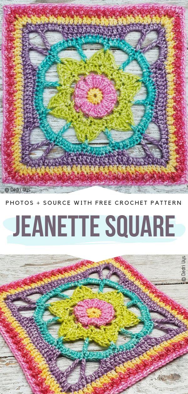 Jeanette SquareFree Crochet Pattern