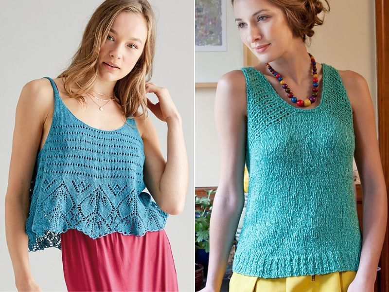 Knitted Tops For Summer Free Patterns