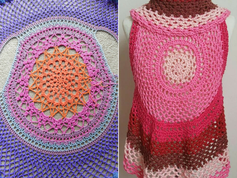Lacy Summer Vests Free Crochet Patterns