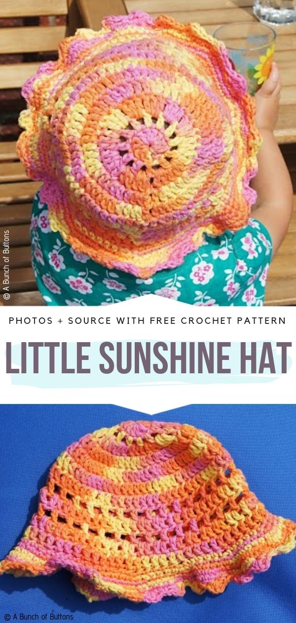 Little Sunshine HatFree Crochet Pattern
