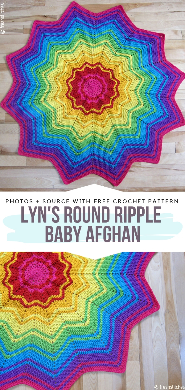 Lyn's Round Ripple Baby Afghan Free Crochet Pattern