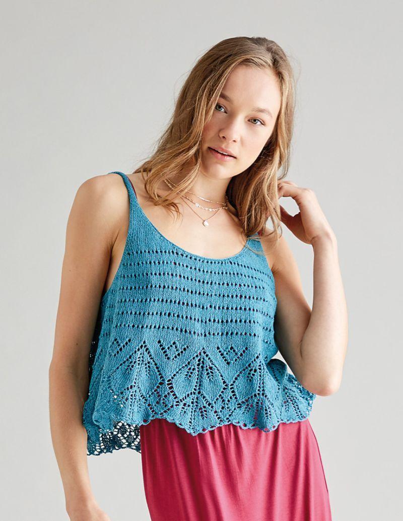 Knit Top Organza