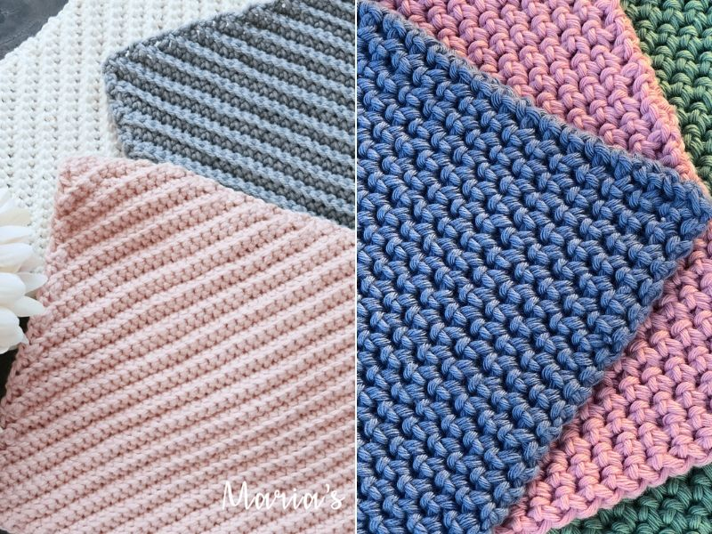 Pastel Crocheted Dishcloths Free Patterns