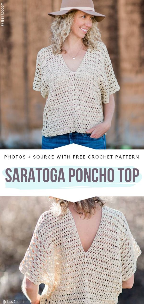 Saratoga Poncho Top Free Crochet Pattern