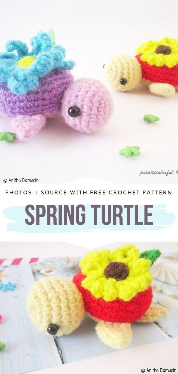 Spring Turtle Free Crochet Pattern